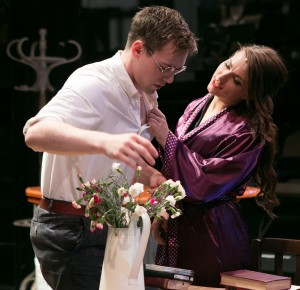 Jamie Muscato as Nathan and Molly McGuire as Lily in The House of Mirrors and Hearts. Photo Credit Darren Bell